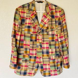 Vintage Brooks Brothers Cotton Patchwork Blazer